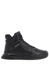 Balmain B Ball Leather High Top Sneakers Black