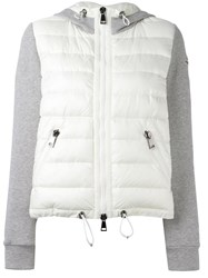 Moncler Padded Front Hoodie White