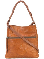 Henry Beguelin Rustic Satchel Leather Brown