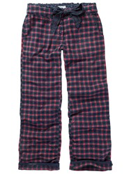 Fat Face Small Grid Check Pyjama Pants Twilight