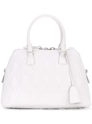 Maison Martin Margiela Quilted Tote Women Calf Leather One Size White