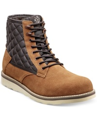 Stacy Adams Mastermind Boots Men's Shoes Tan Suede W Brown Mesh