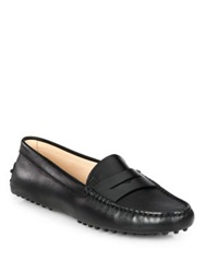 Tod's Nappa Leather Gommini Moccasin Drivers Black
