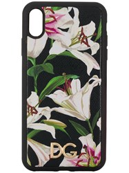 Dolce And Gabbana Lily Print Iphone Xs Max Case Black