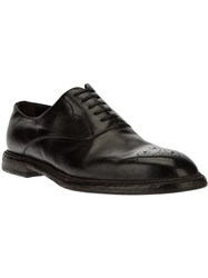 Dolce And Gabbana Brogue Detail Oxford Shoe Black