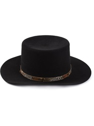 Saint Laurent Flat Brimmed Hat Black