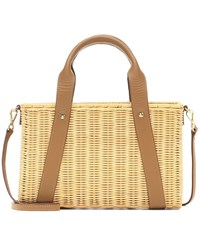 Kayu Daisy Straw Shoulder Bag Brown