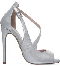 Carvela Geep Metallic Leather Sandals Silver