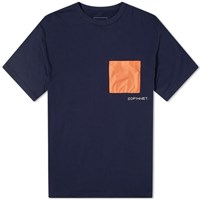 Sophnet. Hem Code Pocket Tee Blue