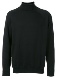 H Beauty And Youth. Mock Turtleneck Jumper Black