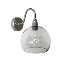 Ebb And Flow Rowan Wall Lamp 15Cm Smokey Grey