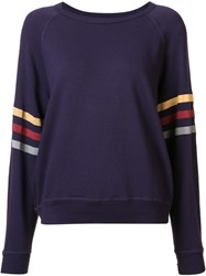 The Great Striped Detailing Sweatshirt Pink Purple