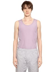 Jil Sander Stretch Cotton Blend Poplin Tank Top