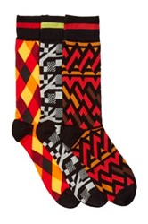 Bottoms Out Printed Mid Calf Socks Pack Of 3 Multi