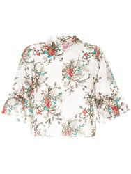 Macgraw Bourgeois Cropped Blouse Multicolour