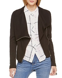 Two By Vince Camuto Ponte Moto Jacket Rich Black