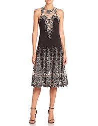 Basix Ii Floral Patterned Dress Black White
