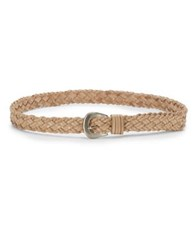 Fashion Focus Braided Leather Belts Natural
