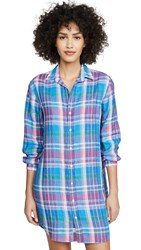 Frank And Eileen Mary Dress Blue Green Plaid
