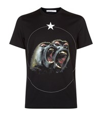 Givenchy Monkey Brothers Cuban Fit T Shirt Male Black