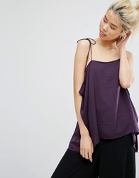 Weekday Strap Cami Top Dark Purple