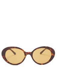 The Row X Oliver Peoples Parquet Sunglasses Brown