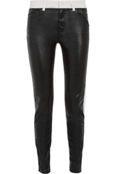 Mcq By Alexander Mcqueen Faux Leather Paneled Jeans Black