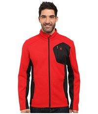 Spyder Bandit Full Zip Fleece Top Red Black Men's Fleece