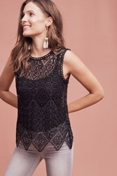 Anthropologie Lacework Shell Black