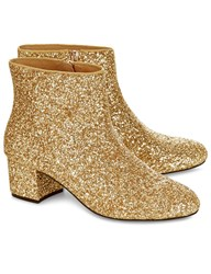 Macgraw Gold Glitter Lucky Ankle Boots