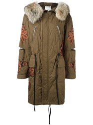 3.1 Phillip Lim Quilted Utility Parka Green