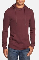 Men's The Rail Waffle Knit Hoodie Burgundy Stem