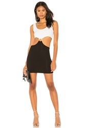 Kendall Kylie Cut Out Mini Dress Black And White
