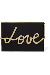 Lanvin Love Resin And Gold Tone Box Clutch