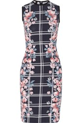 Mother Of Pearl Edme Floral Print Stretch Cotton Dress Navy