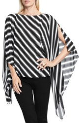 Vince Camuto Women's Stripe Poncho Rich Black