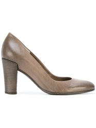 Roberto Del Carlo Chunky Heel Pumps Brown