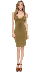 Wgaca Alaia Knit Sleeveless Dress Brown