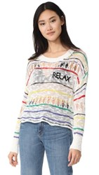 Wildfox Couture Relax Sweater Clean White