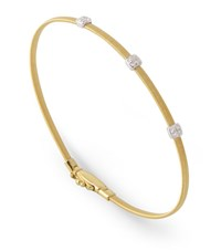 Marco Bicego Masai Triple Diamond Bangle Bracelet Female Yellow Gold