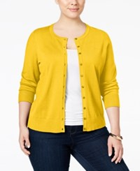 Charter Club Plus Size Long Sleeve Cardigan Only At Macy's Maize Gold