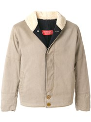 Gianfranco Ferre Vintage Shearling Effect Collar Jacket Nude And Neutrals