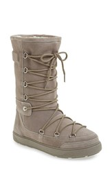 Moncler Women's 'New Laetitia' Genuine Shearling Tall Boot