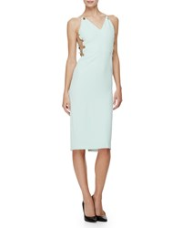 Cushnie Et Ochs Sleeveless Button Side Sheath Dress Mint
