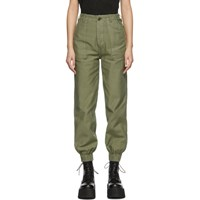 R 13 R13 Green Utility Trousers
