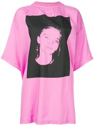 Alyx Face Print T Shirt Pink And Purple