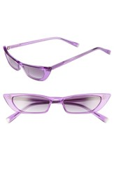 Kendall Kylie Vivian 51Mm Extreme Cat Eye Sunglasses Crystal Purple