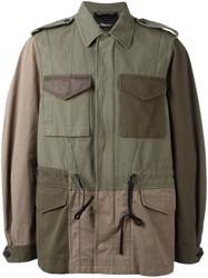 3.1 Phillip Lim Patchwork Field Jacket Green