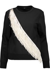 Tibi Fringed Cady Top Black