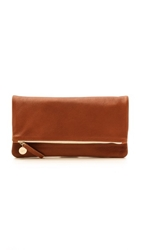 Clare V. Fold Over Clutch British Tan